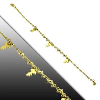 Bettelarmband Schlüssel Gold aus Edelstahl Damen