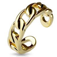 Toe ring chain links silver brass ladies