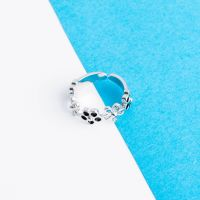 Toe ring flowers silver brass ladies