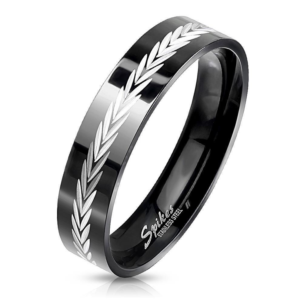 Ring Pfeile Schwarz aus Edelstahl Herren