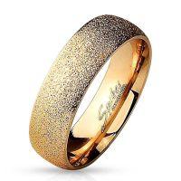 Ring sand-gestrahlt Rosegold aus Edelstahl Unisex