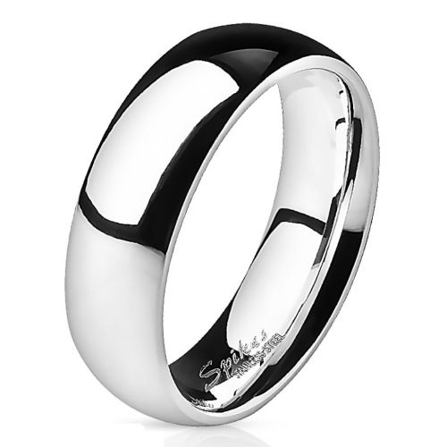 52 (16.6) Ring highly polished silver made of stainless steel unisex