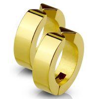 Gold - Creolen klassisch aus Edelstahl Unisex