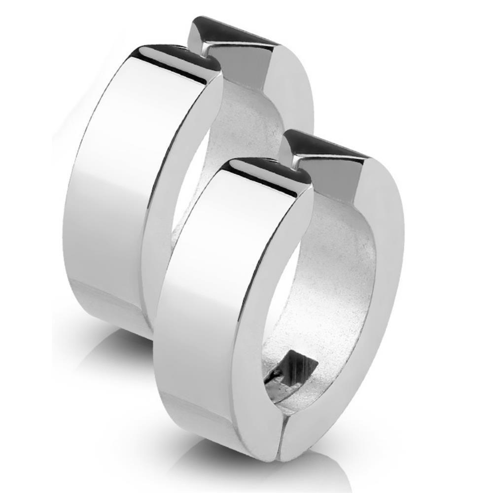 Silber - Creolen klassisch aus Edelstahl Unisex