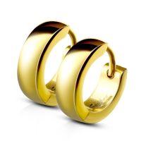 Gold - Creolen 4mm aus Edelstahl Unisex