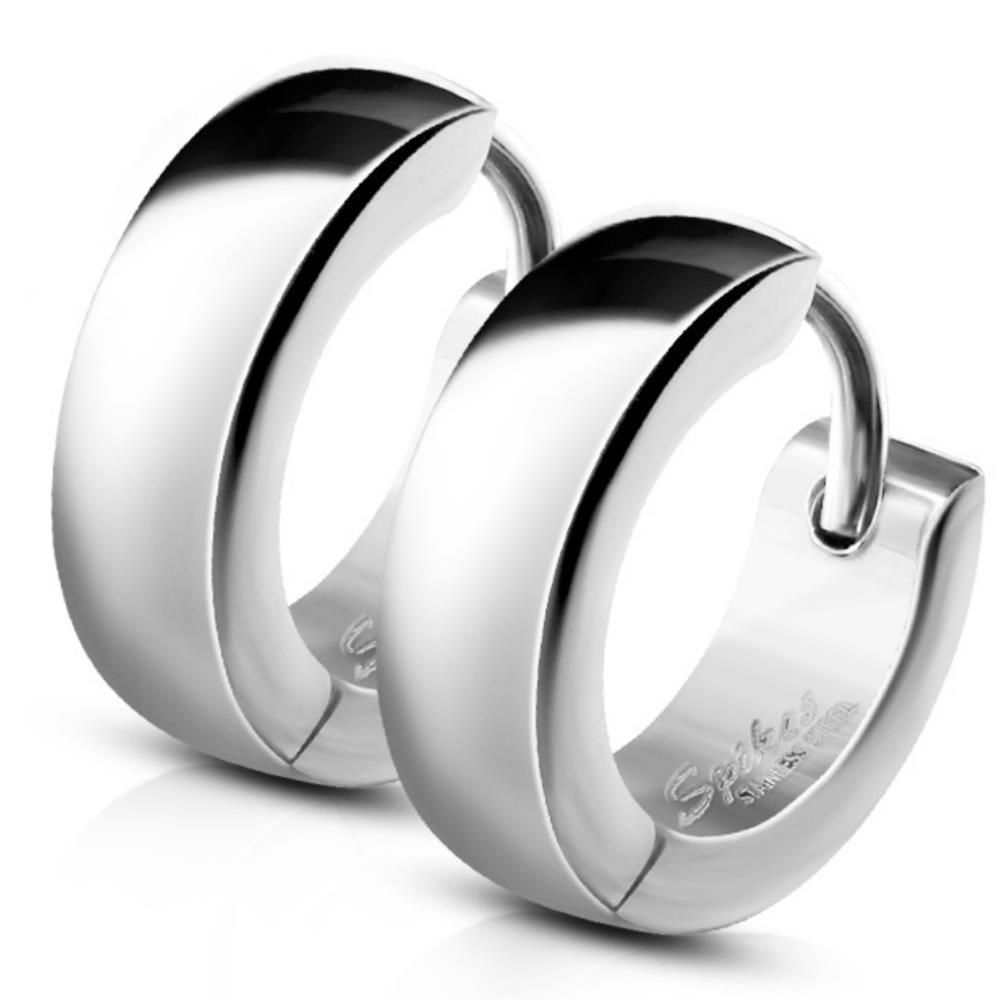 Silber - Creolen 4mm aus Edelstahl Unisex