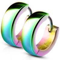 Regenbogen - Creolen 4mm aus Edelstahl Unisex