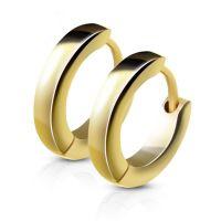 Gold - Creolen schmal aus Edelstahl Damen
