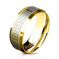 60 (19.1) - Ring Kreuz & Gebetstext Gold aus...