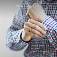 Ring sandoptik Rosegold aus Edelstahl Unisex