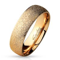 64 (20.4) rose gold sandblasted stainless steel ring...