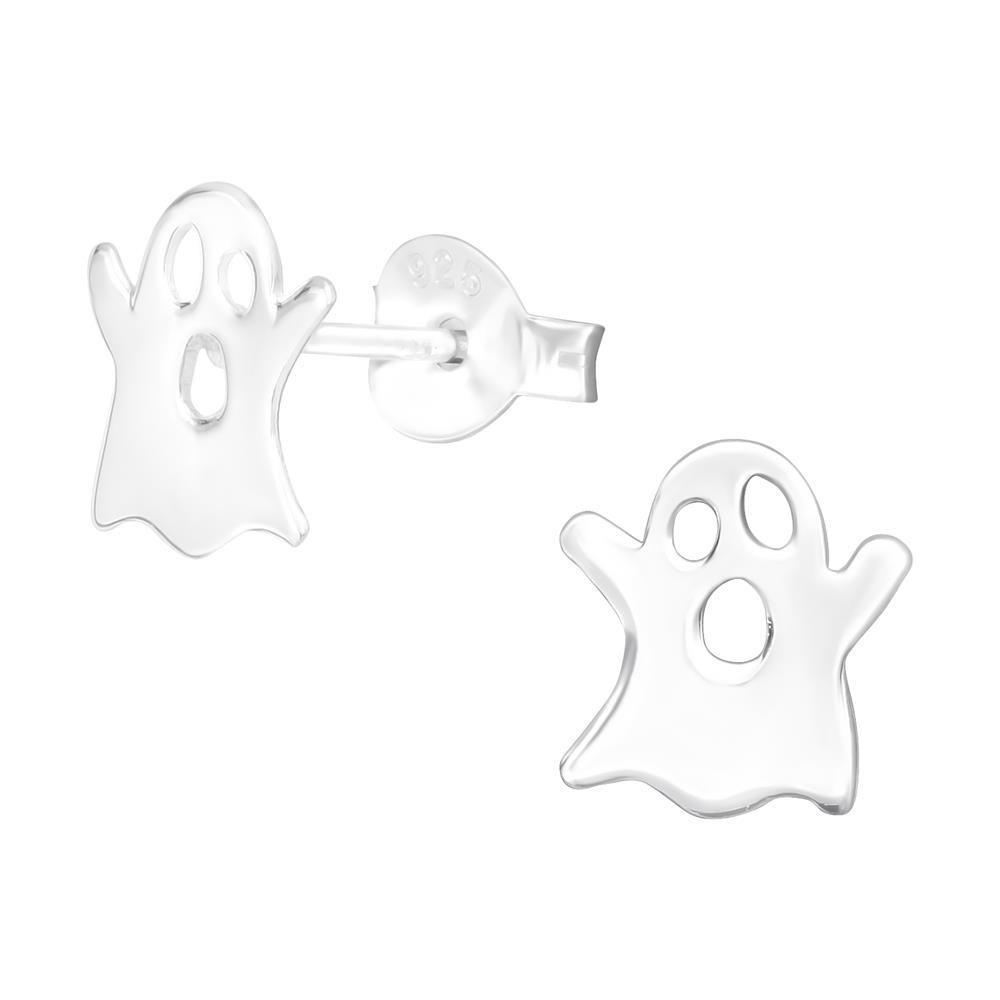 Ohrstecker Geist für Halloween-Fans aus 925 Silber