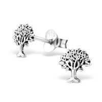 Ohrstecker Tree of Life 925 Silber Damen