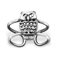 Ear clip owl 925 silver ladies