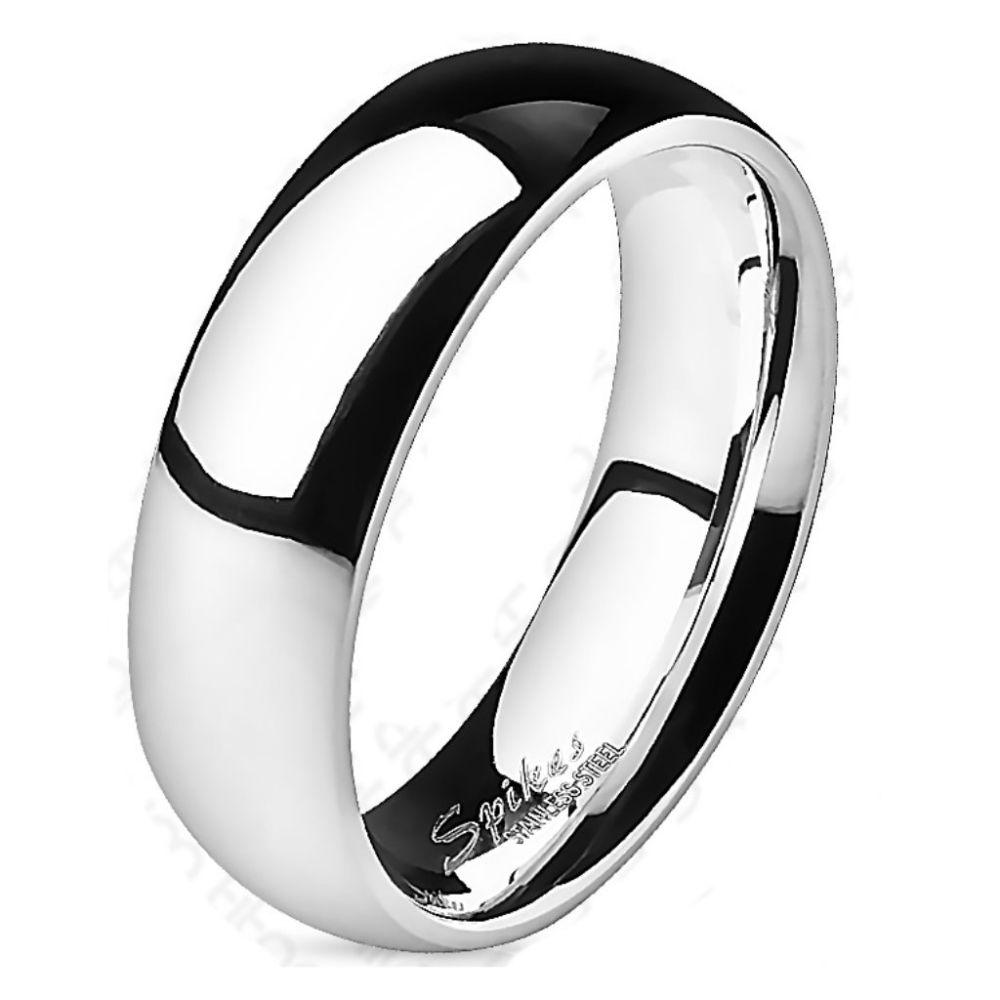 60 (19.1) ring highly polished silver titanium unisex