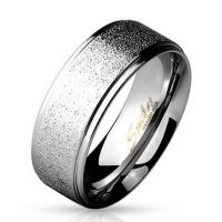 Ring two outer rings silver made of stainless steel men