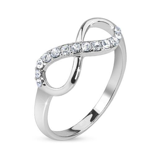 54 (17.2) Ring Infinity silver infinity symbol stainless steel narrow (ring ladies finger ring partner rings engagement rings wedding rings ladies ring stainless steel ring surgical steel)