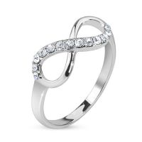 54 (17.2) Ring Infinity silver infinity symbol stainless...