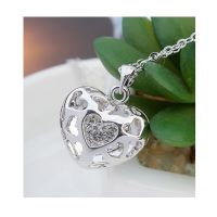 Kette funkelndes Herz Silber aus Messing für Damen