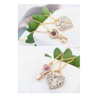 Kette Key to your Heart Rosegold Messing Damen