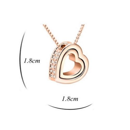Kette Love you forever Rosegold Messing Damen