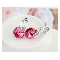 Ohrstecker Pink Sparkle silber Messing Damen