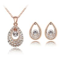 Schmuckset Golden Tear Rosegold Messing Damen