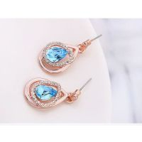 Schmuckset Blue Tear Rosegold Messing Damen