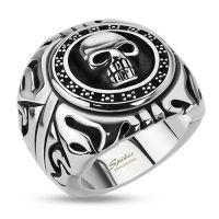Ring skull silver made of stainless steel men