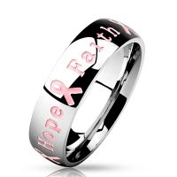 Ring Courage Strength Hope Faith Silber aus Edelstahl Unisex