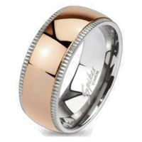 Ring middle ring rose gold silver titanium women