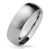 Ring klassisch matt Silber aus Edelstahl Unisex