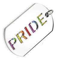 Pendant Pride DogTag Colorful made of stainless steel unisex