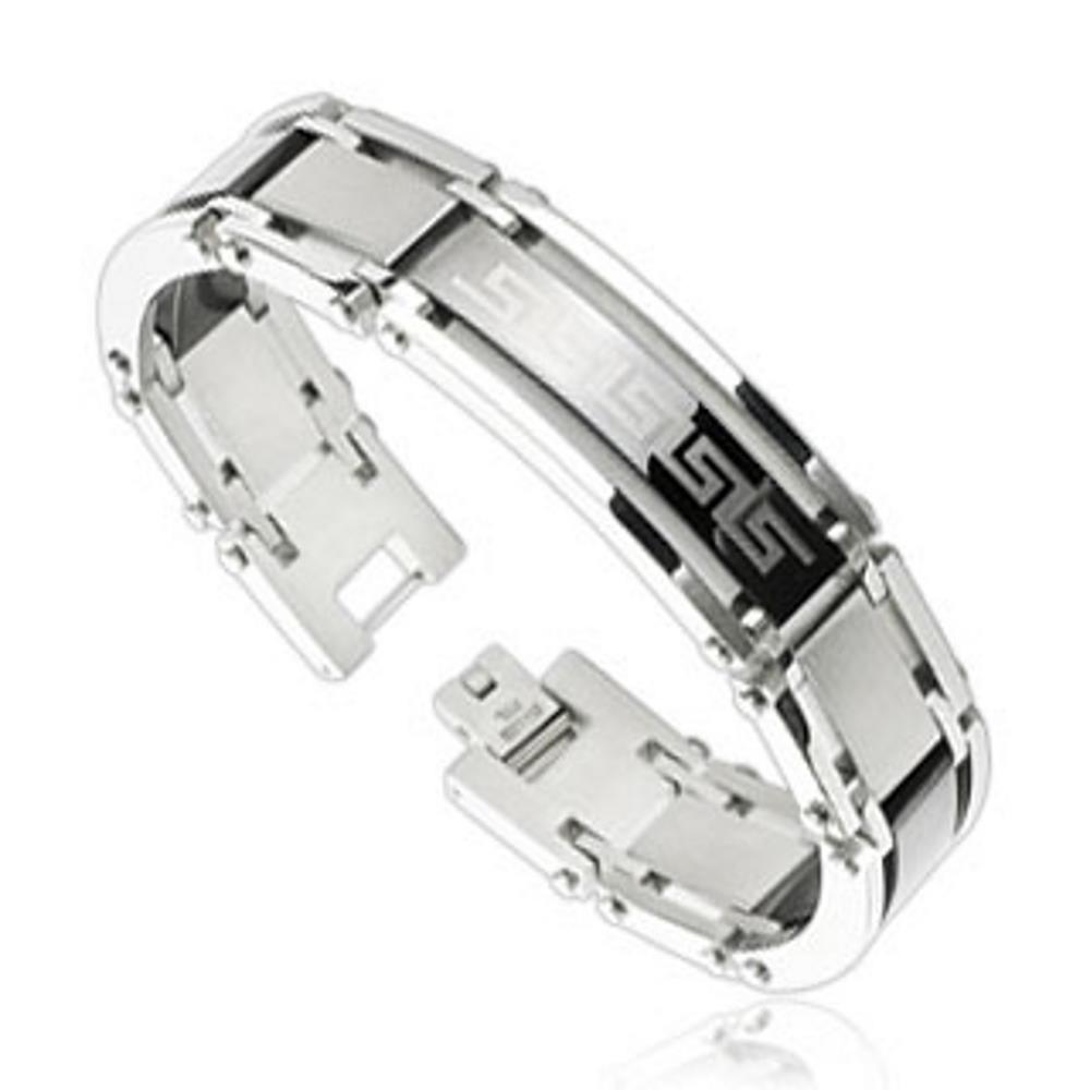 Armband Tribal Silber aus Edelstahl Damen