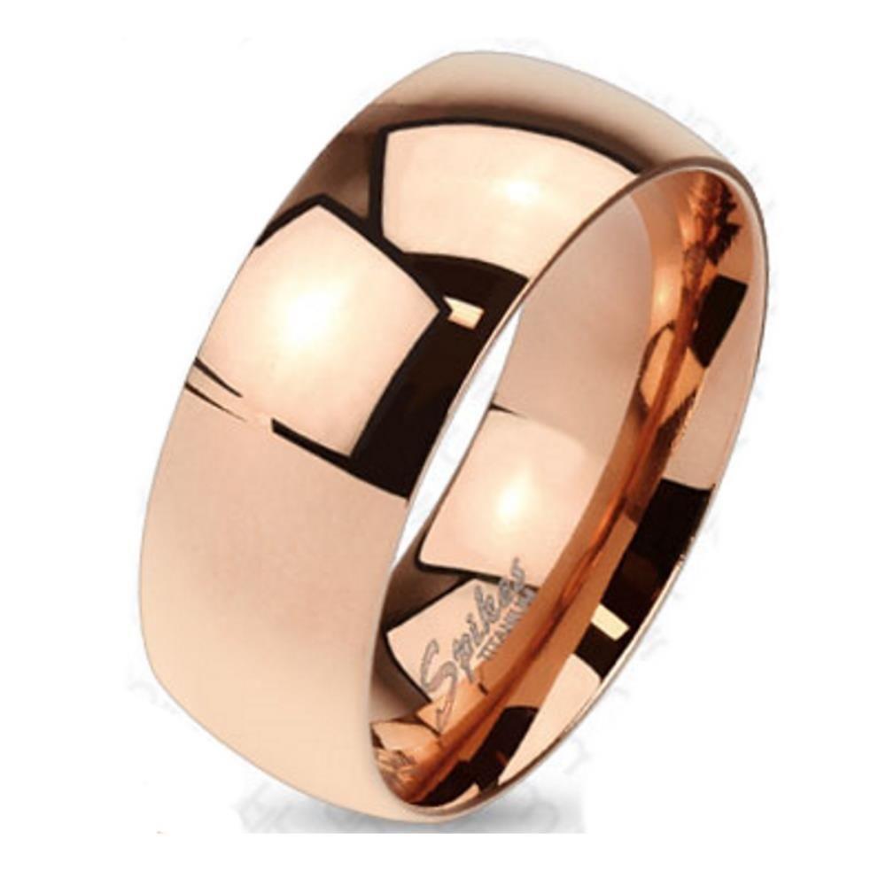 49 (15.6) Bungsa© TITAN RING ROSEGOLD Damen - Ring aus rosé-goldenem TITAN für Damen & Herren - roséfarbener Damenring / Herrenring - SCHMUCKRING für Frauen & Männer roségold Titanium