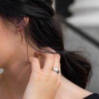 54 (17.2) Bungsa© silberner RING für Damen & Herren - Silber - Damenring aus EDELSTAHL matt - edler Edelstahlring geeignet als Verlobungsringe, Freundschaftsringe & Partnerringe