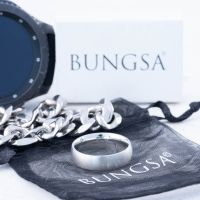 67 (21.3) Bungsa© silberner RING für Damen & Herren - Silber - Damenring aus EDELSTAHL matt - edler Edelstahlring geeignet als Verlobungsringe, Freundschaftsringe & Partnerringe