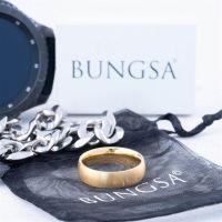 60 (19.1) Bungsa© goldener RING für Damen & Herren - Gold - Damenring aus EDELSTAHL matt - edler Edelstahlring geeignet als Verlobungsringe, Freundschaftsringe & Partnerringe