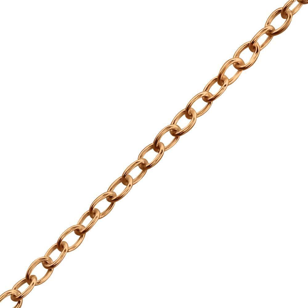 1mm x 45cm - Kette lang Rosegold aus 925 Sterling Silber Damen
