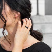 54 (17.2) Bungsa© schwarzer RING für Damen...