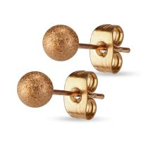 Stud earrings rose gold stainless steel ladies