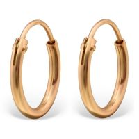 Rose gold - hoops classic 925 silver ladies