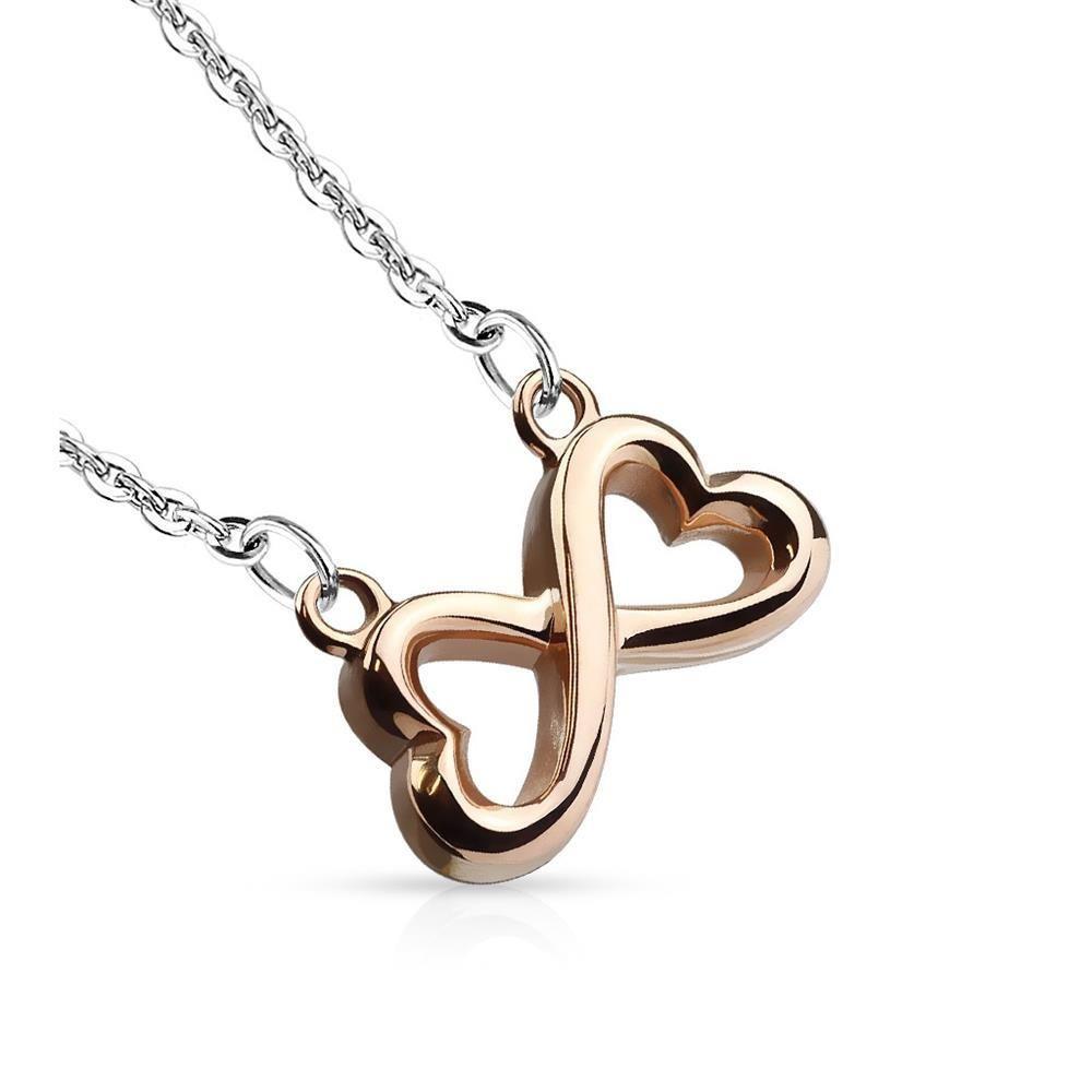 Rosegold - Anhänger Infinity Silber aus Edelstahl Unisex