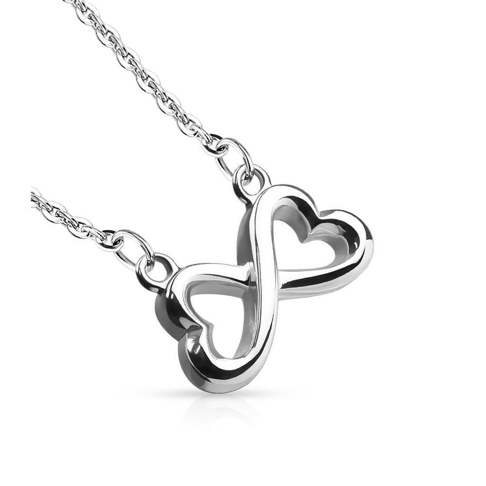 Silber - Anhänger Infinity Silber aus Edelstahl Unisex