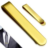 Classic gold tie clip made of stainless steel
