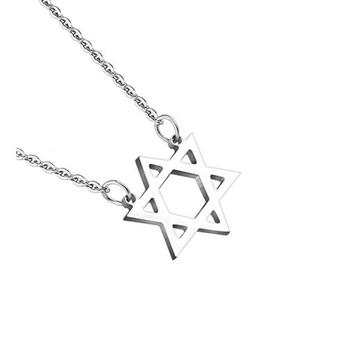 Silver - Star of David necklace made of stainless steel unisex