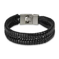 Armband T-Verschluss schwarz aus Edelstahl Unisex