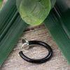Schwarz - Fake Piercing Ring mit Springverschluss Silber aus Edelstahl Unisex