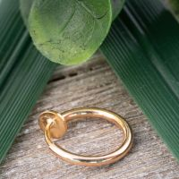 Rose gold - fake piercing ring with spring clasp silver...