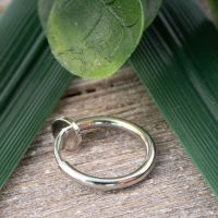 Silver - Fake Piercing Ring with spring clasp Silver made...
